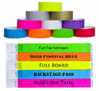 Custom Printed Tyvek Wristbands Event Security Admission Wristband - Blue