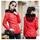 New women's hooded stitching fur collar cotton jackets coats outerwear