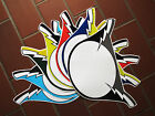 Haro Factory / Lightning Bolt Style Number Plate Decals Old School BMX