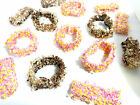 WHOLESALE JOB LOT ASSORTED LADIES COLORFUL LACED SCRUNCHIES BRAND NEW (G1)