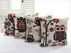 """HOT Fashion Colourful Owl Beauty Pattern Cushion Covers 8 styles - 18""""x18"""" 45cm"""