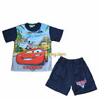 Disney Car Cars Summer Pyjamas Pajamas PJS Top Short Size 1,2,3,4,5,6