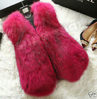 2014 100%Real Fox Fur Vest Gilet Waistcoat Jacket Fashion Deluxe Luxury Gift New
