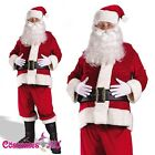 Flannel Santa Claus Suit Clause Christmas Xmas Fancy Dress Costume wig beard