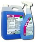 Brite - Clean Glass Window Mirror Steel Plastic Cleaner - Grease & Dirt Remover