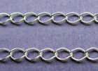 New 18in/450mm & 24in/610mm 26ga 925 Sterling Silver Loose Curb Link Chain