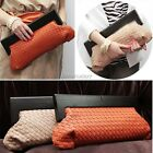 Womens Leather Embossing Woven Handbag Clutch Evening Bag Purse Wallet New ItS7