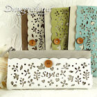 Zakka Floral Cutout Suede Effect Fabric Pen Pencil Case Bag Stocking Filler Gift