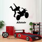 Motocross Wall Stickers Motorbike wall arts BOYS room Mural Kids Name Decal 02