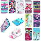 Leather Card Holder Wallet Flip Case Stand Shell Cover Housing Cell Smart Phone
