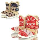 WOMENS DUNLOP BOOT SLIPPERS GIRLS COSY WARM WINTER LADIES ANKLE BOOTIES SHOES