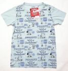 UNIQLO WOMEN PEANUTS SNOOPY CREW NECK Graphic Short Sleeve T-Shirt Blue (088061)