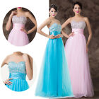 Quinceanera Beads Bling Lady Bridesmaid Wedding Gown Evening Maxi Cocktail Dress