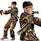 Special Force Costume Kids Boys Army Camo Soldier Marines Sizes 5-13 Years
