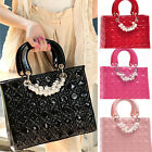 UK FAST Women's Ladies Faux Leather Celebrity Tote Bag Shoulder Weekend Handbag