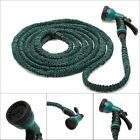 Latex 25-100Feet Expanding Flexible Garden Water Hose Pipe with Sprayer Nozzle