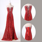 FREE P&P Split Slim Masquerade Pageant Gowns Evening Prom Party Bodycon Dresses