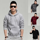 Plain 4 Color Top Vogue Slim Fit Mens Casual Hoodies Hooded Pullover Sweatshirts