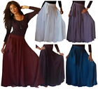 @B304 SKIRT A LINE SASH BELT MAXI RAYON MADE TO ORDER MISSES/PLUS CHOOSE COLORS