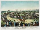 8973.Peytona and fashion.horse race.people gathered.POSTER.decor Home Office art