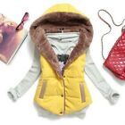 Plus Size Women Hooded Thick Gilet Collar Waistcoat Down Coat Jacket Outerwear