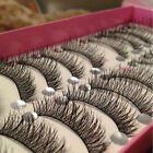 New Long Thick Cross 10 Pairs Makeup Beauty False Eyelashes Eye Lashes Extension