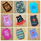 NEW Small Dog Cat Pet Love Mum Clothes Camouflage Vest Lace Dress Shirt Apparel