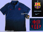 S M L XL XXL NIKE BARCELONA POLO SHIRT football soccer calcio jersey COTTON NEW