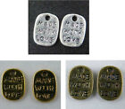 """300pcs Silver/Gold/Bronze tone """"Made with love"""" Charms 11x8.5x1mm 5194"""