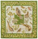 Authentic Hermes Silk Scarf LA VIE AU GRAND AIR Green Jacquelot Birds Insects