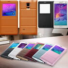Premium PU Leather Battery Case Cover Skin For Samsung Galaxy Note 4 London Ship