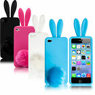 New Bunny Rabbit Silicone Case Cover iPhone 5+Screen Protector+Cleaning Cloth