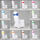 Stretch Chair Cover Band With Buckle Slider Replace Chair Sash Bow Multi-Colors