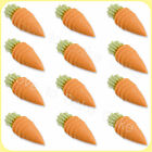 12, 24 or 48 EDIBLE SUGAR CARROTS Easter Cupcake Toppers Edible Cake Decoration