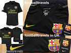 S M L XL NIKE BARCELONA AWAY SHIRT JERSEY football soccer calcio DRIFIT TAGS