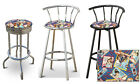 FC789 UNIQUE VINTAGE RETRO PEPSI COLA SODA THEMED SWIVEL SEAT METAL BAR STOOL
