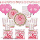 Ballerina Dance Ballet Girls Deluxe Birthday Party Kits Plates Cups & More!!