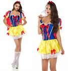 Deluxe Womens Fancy Party Dresses Snow White Corset Halloween Costume @FL8571