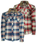 Mens Soul Star Tartan Shirt Fleece Lined Check Lumberjack Casual Flannel Jacket