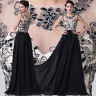 Stunning Applique Prom Long Evening Homecoming Party Formal Dresses Wedding Gown