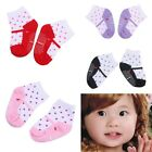 1/4pairs Infant Toddler Indoor Anti-slip Warmer Dot Cotton Socks Shoe Slippers