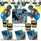 Deluxe Batman Superhero Boys Birthday Party Kit Plates Party Bags Balloons!