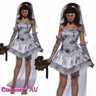 Ladies Halloween Zombie Bride Horror Costume Fancy Dress Up Party Outfits
