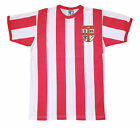 Retro 1953-57 Stoke City Football T Shirt New Sizes S-XXL Embroidered Logo