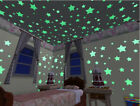 Classic Fine Glow In The Dark Plastic Stars Stickers Baby Kids Ceiling Wall Room
