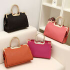 RETRO Lady Faux Leather Tote Handbag Shoulder Crossbody Messenger Work Hobo Bags