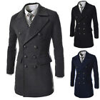 XMAS New Double Breasted Coat Jacket Men's Leisure Slim Fit Outwear Man XS S M L