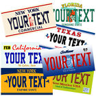 Personalised American Style Metal licence plate ★ Car Retro Number Sign usa door