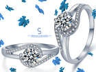 0.50 Ct 925 Sterling Silver Fancy Eternity / Engagement / Wedding / Band Ring