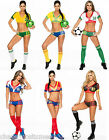 Sexy Cheerleader World Cup Football Fancy Dress Sports Girl Costume 6 8 10